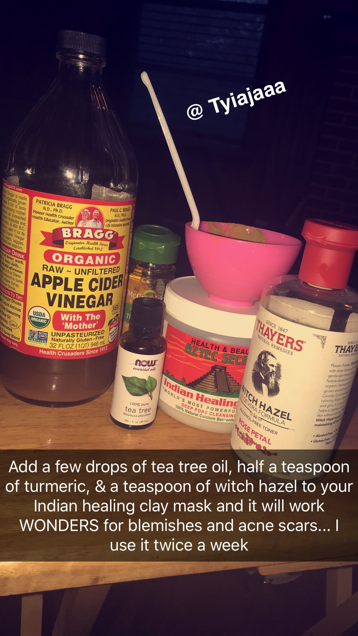 I Just Put Apple Cider Vinegar In My Mask Mix But Then I Add On