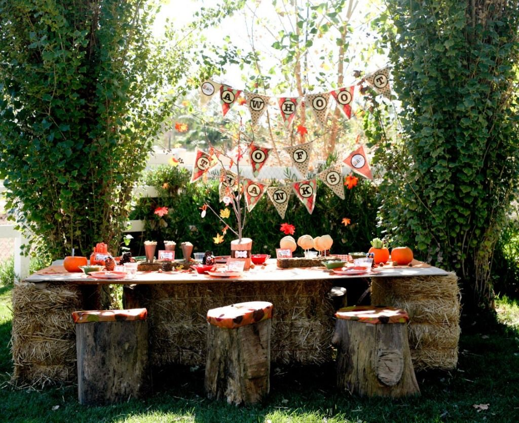 Rustic Outdoor Party Bonfire Party Fall Birthday Parties Kids