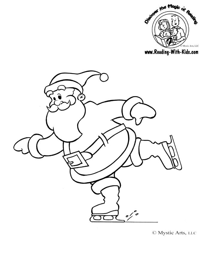 christmas coloring page - Coloring Pages Of Santa 2