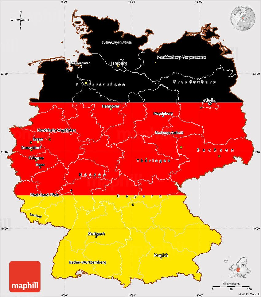 Simple Map Of Germany.Flag Simple Map Of Germany Hbc Map Flag Germany