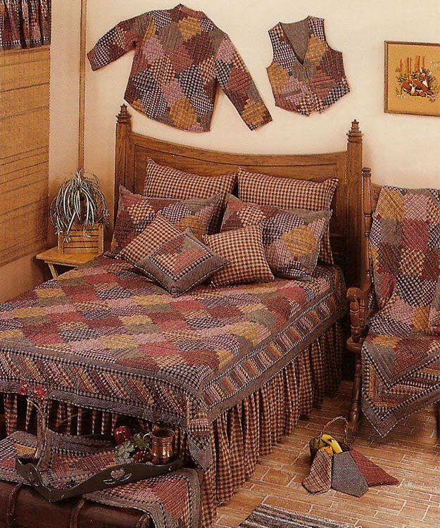 Harvest Log Cabin Quilt Set Pachwort