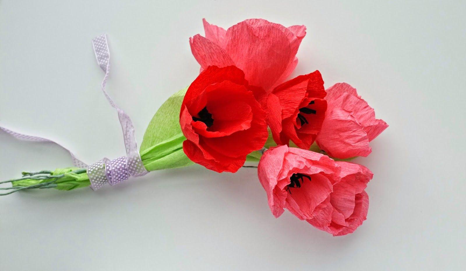 DIY tulipes en papier crépon | Papier crépon, Fleurs en papier et Fleur crepon