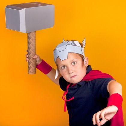 Como Hacer Un Martillo De Thor De Cumpleaños Superhero Crafts Thors Hammer Thor Costume