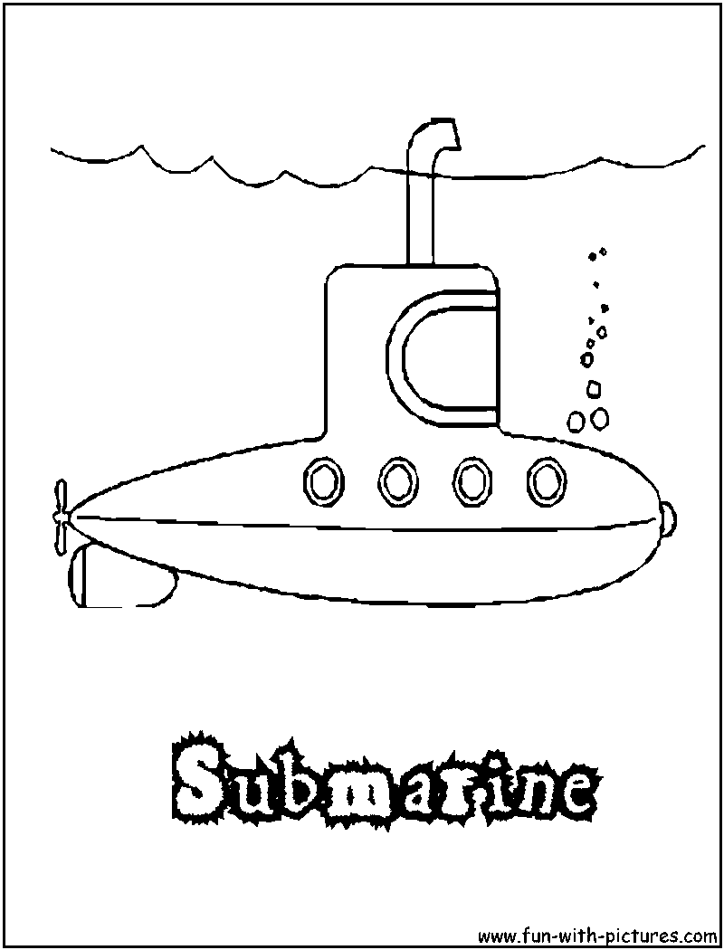 yellow submarine coloring page hicoloringpages coloring home pages - Submarine Coloring Pages Print