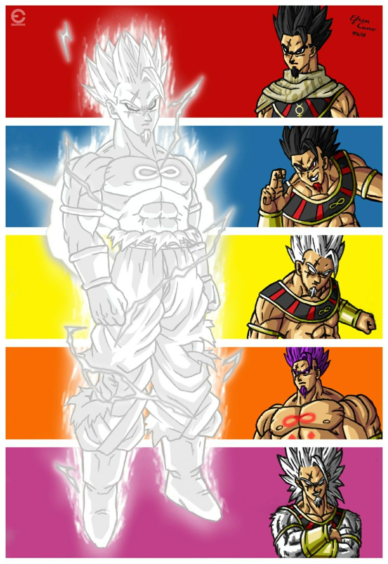 Drawing Taima All Forms Dragon Ball Infinity Request