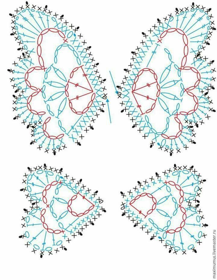 Farfalla1   Схемы цветы   Pinterest   Flores tejidas, Colgantes y ...