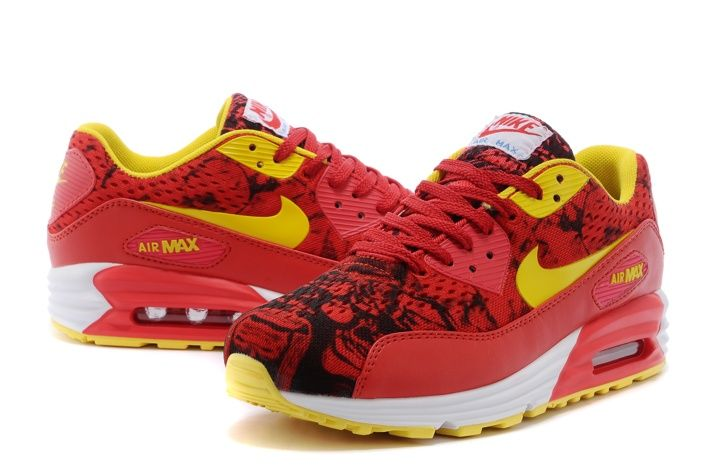 pretty nice 92b4d 3498a Nike Air Max 90 Premium EM Chinese Red Sport Shoes Yellow Women, AUD  131.18