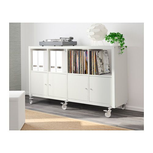 kallax tag re 4 portes roulettes blanc roulette ikea. Black Bedroom Furniture Sets. Home Design Ideas
