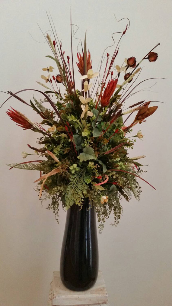 Extra large silk floral arrangement transitional contemporary extra large silk floral arrangement transitional contemporary elegant cinnamon spice exotic tall foy mightylinksfo