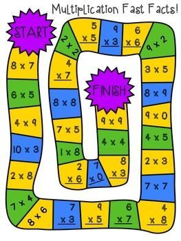 Multiplication and division board games multiplication - Times table games for children ...