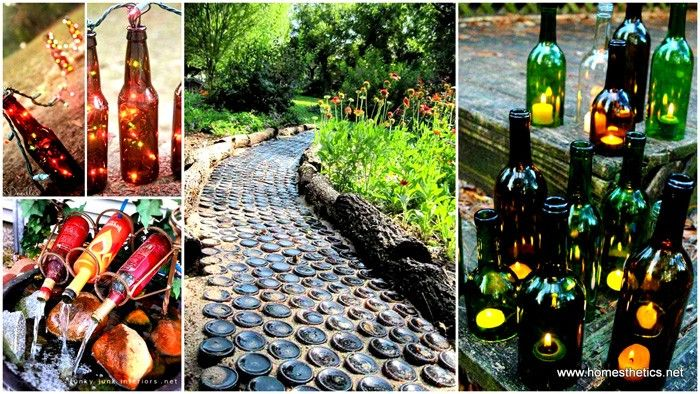 Ausgefallene Gartendeko Selber Machen Upcycling Ideen Diy Deko Glasflaschen  Recycling
