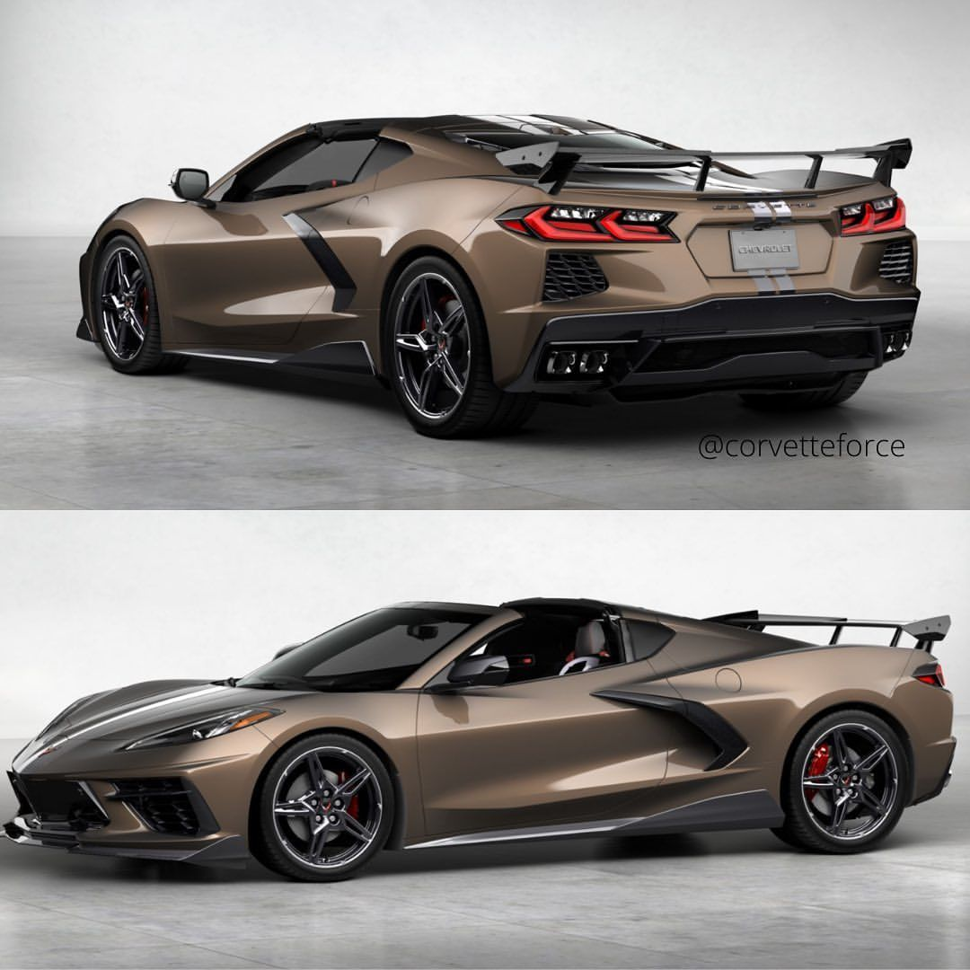 Zeus Bronze 2020corvette Does Not Have To Be A Boring Old Guy Car Ground Effects High Wing Spoiler Black Whe In 2021 Black Wheels Corvette Corvette Wheels