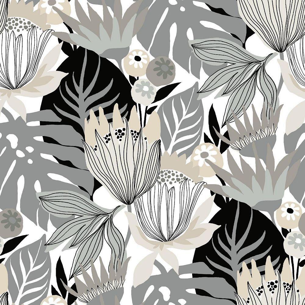 Rts Home Accents Fond D Ecran Peel Stick Trop Leaves Home Depot Canada Peel And Stick Wallpaper Wallpaper Roll Print Wallpaper