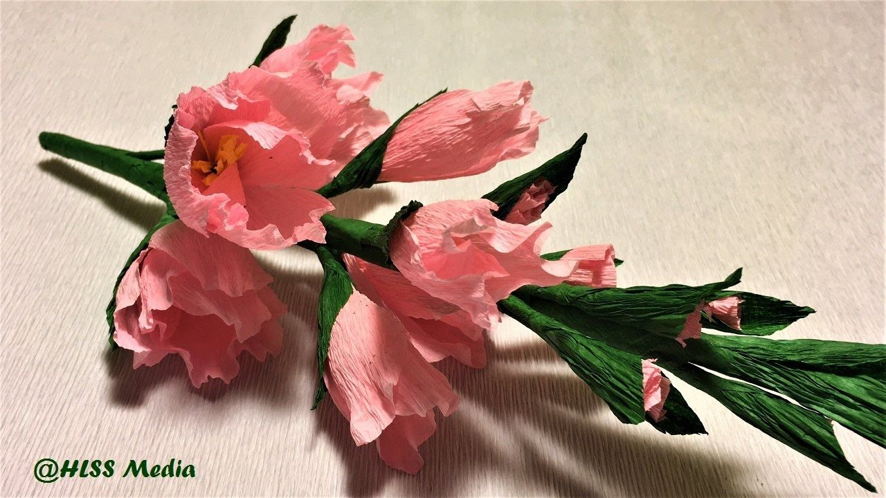 Making Easy Origami Gladiolus Paper Flower Step By Stepdiy Crepe