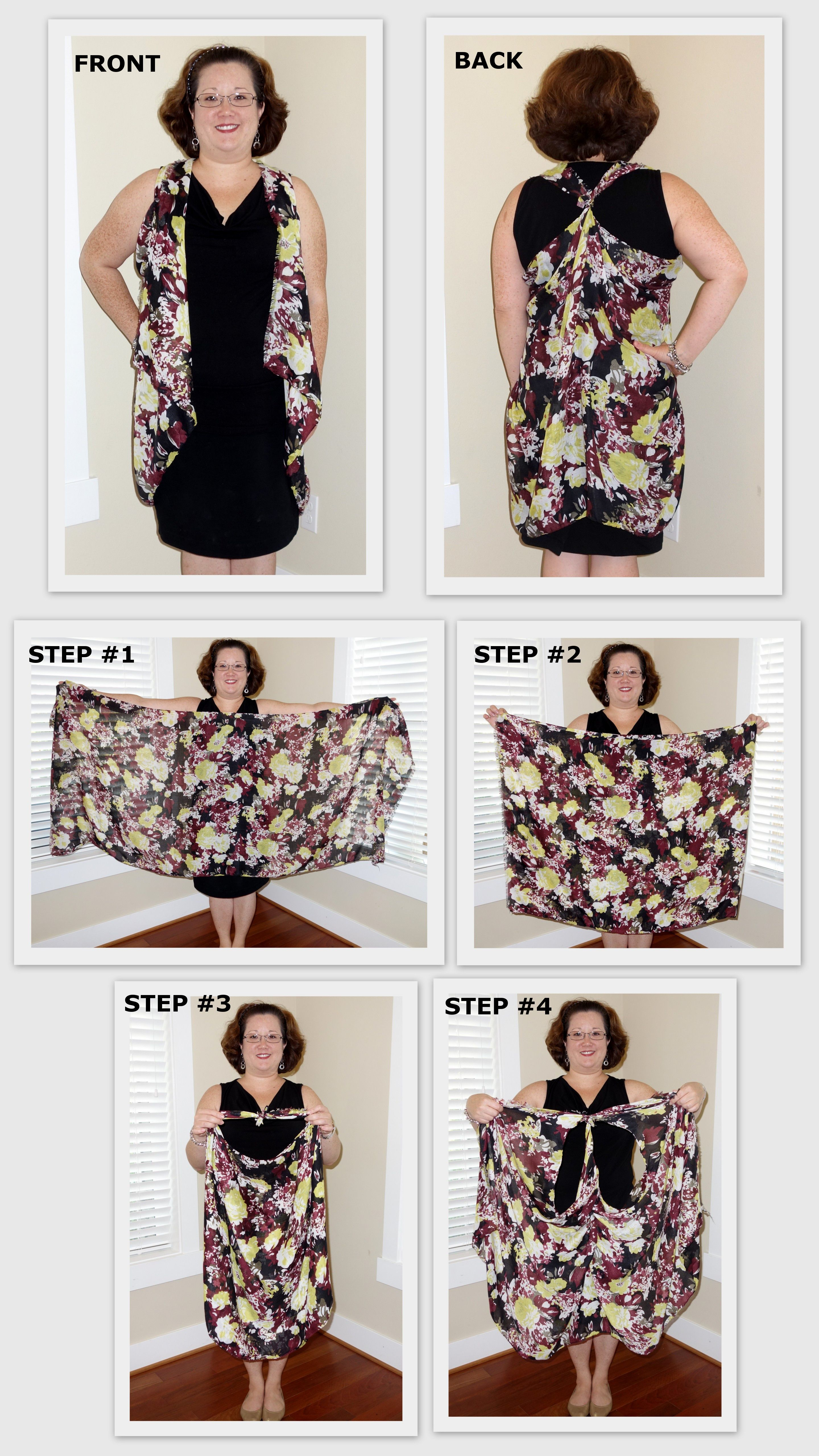 Pin by Abby Lloyd on DIME...Do It Myself Easily | Scarf vest, Vest, Tie