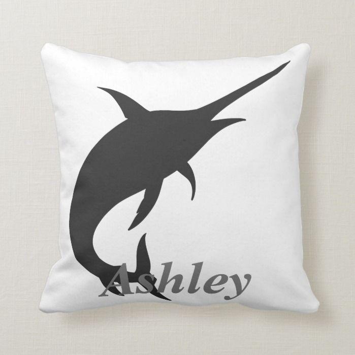 Photo of Marlin  silhouette throw pillow | Zazzle.com