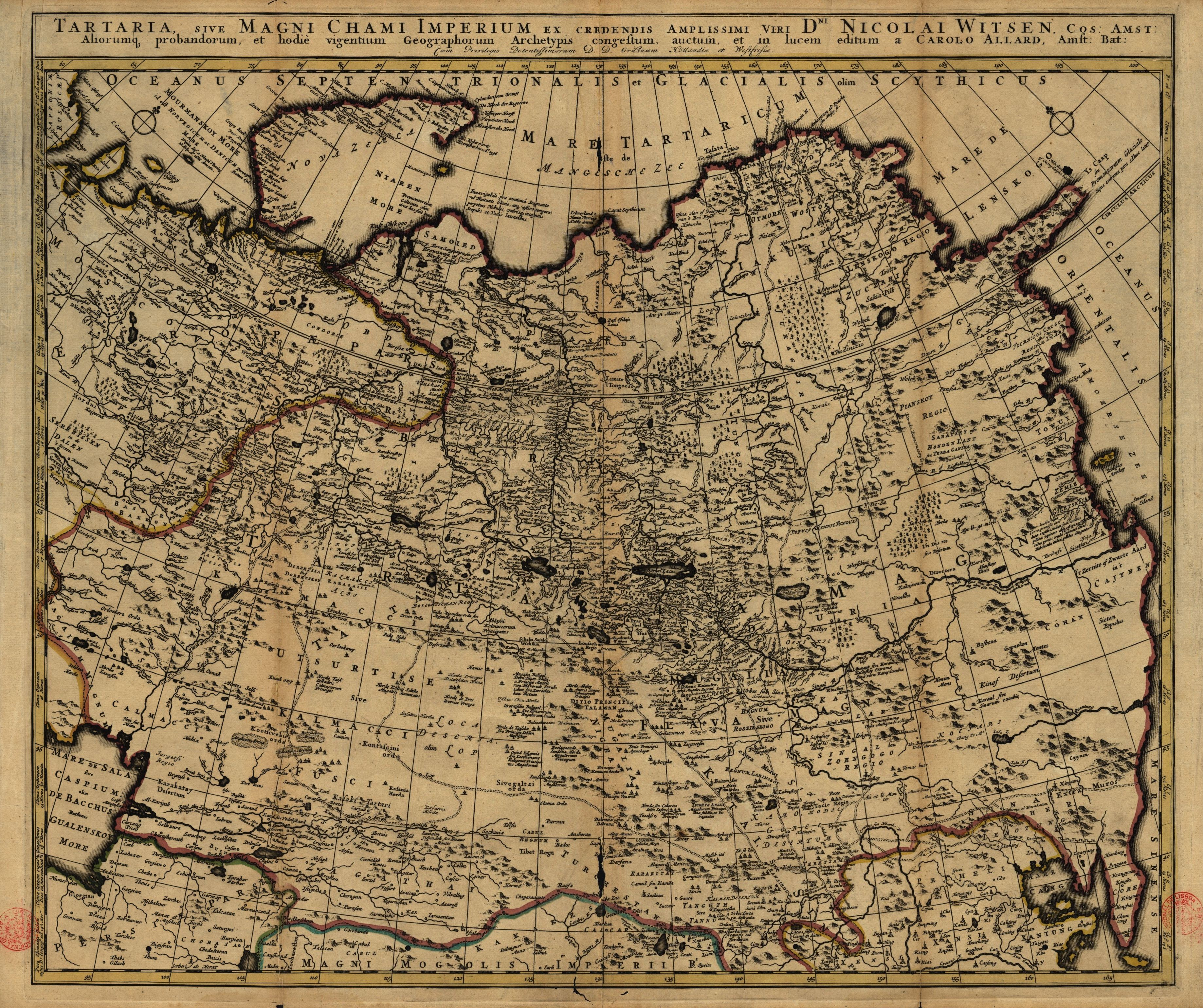 Ancient Middle East Map Mesopotamia%0A In      the Amsterdam burgomaster Nicolaes Witsen published this map of  Tartary  Land of the Tartars