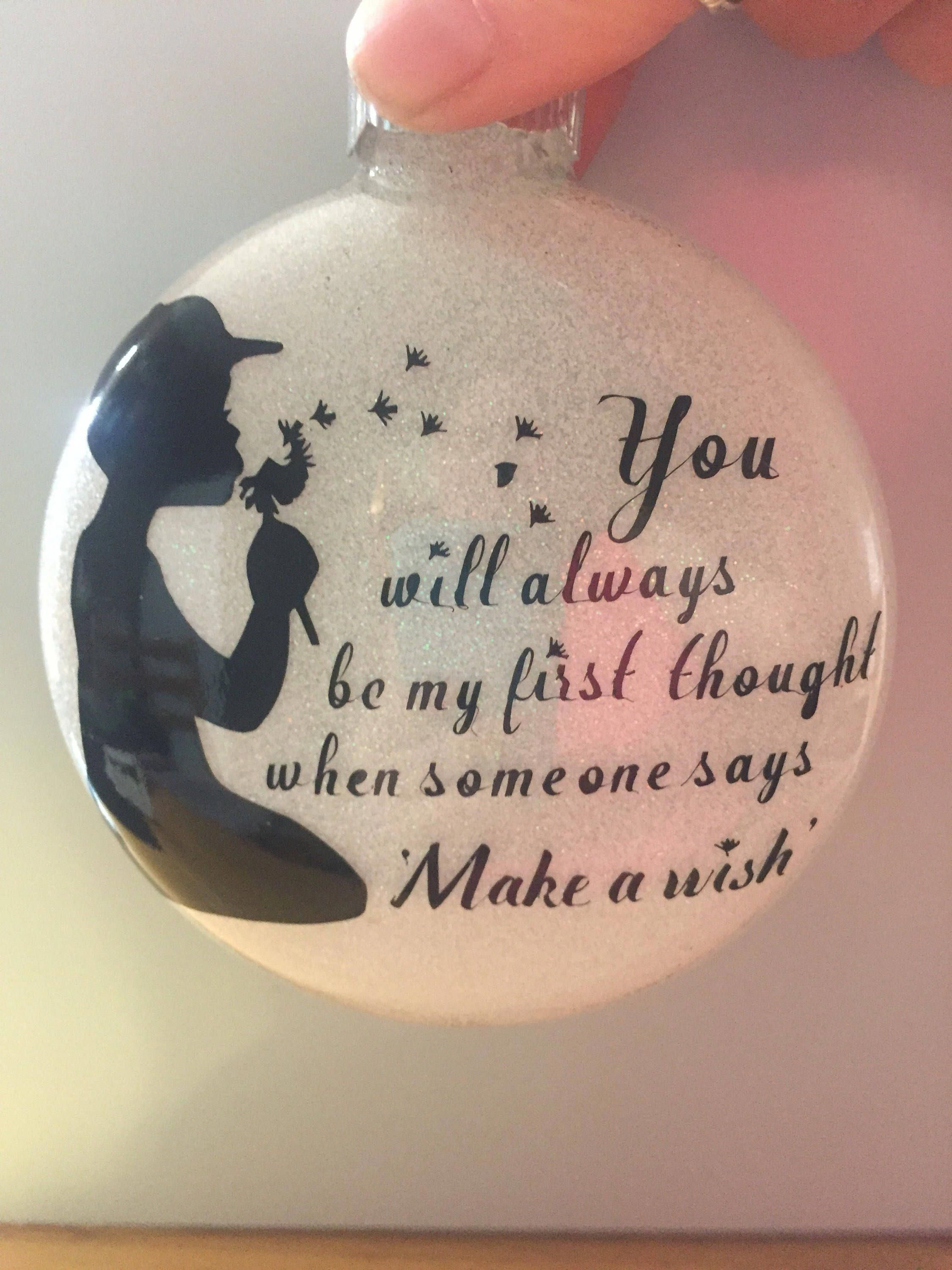 Excited To Share This Item From My Etsy Shop Make A Wish Memorial Shatterproof Ornament Home Holiday Crafts Diy Homemade Christmas Gifts Memorial Ornaments