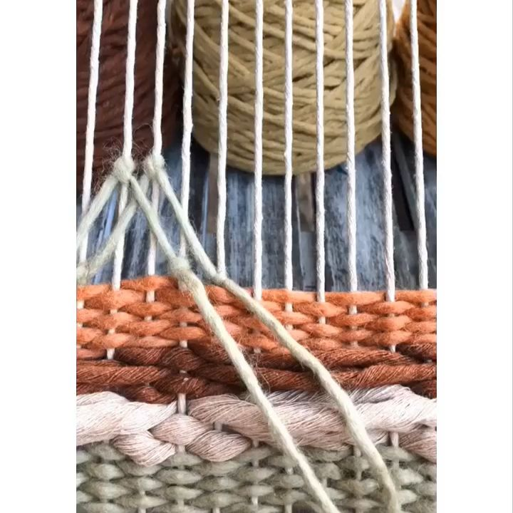 New stitch from baskestry weaving #weaving