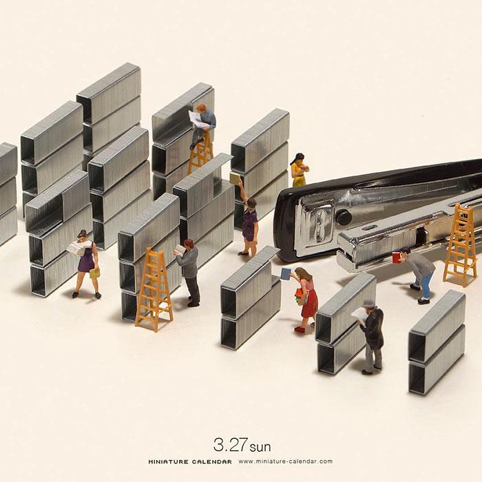 246 lustige Miniatur-Dioramen eines japanischen Künstlers, der sie seit 5 Jahren jeden Tag kreiert