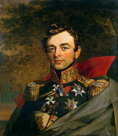 Painting of General Ivan Fyodorovich Paskevich (1782-1856) Russia by George Dawe in The Military Gallery of the Winter Palace in St. Petersburg, Russia. The gallery holds the portraits of those who took part in the Patriotic War of 1812.