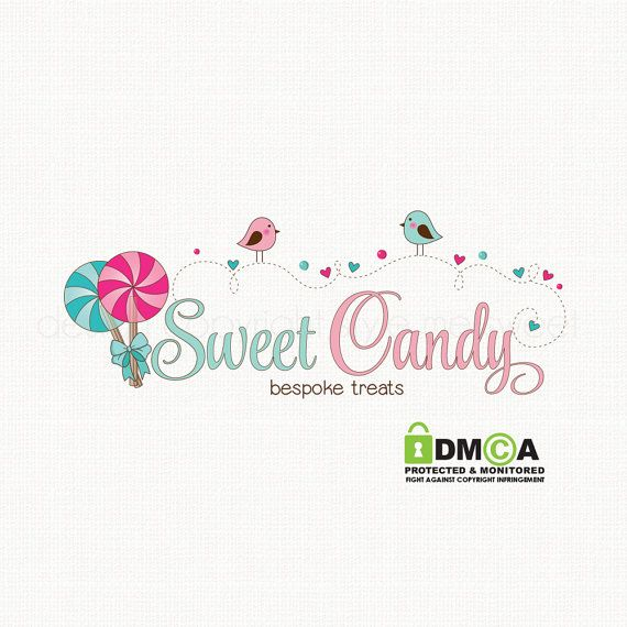 candy logo design lollypop logo design party by