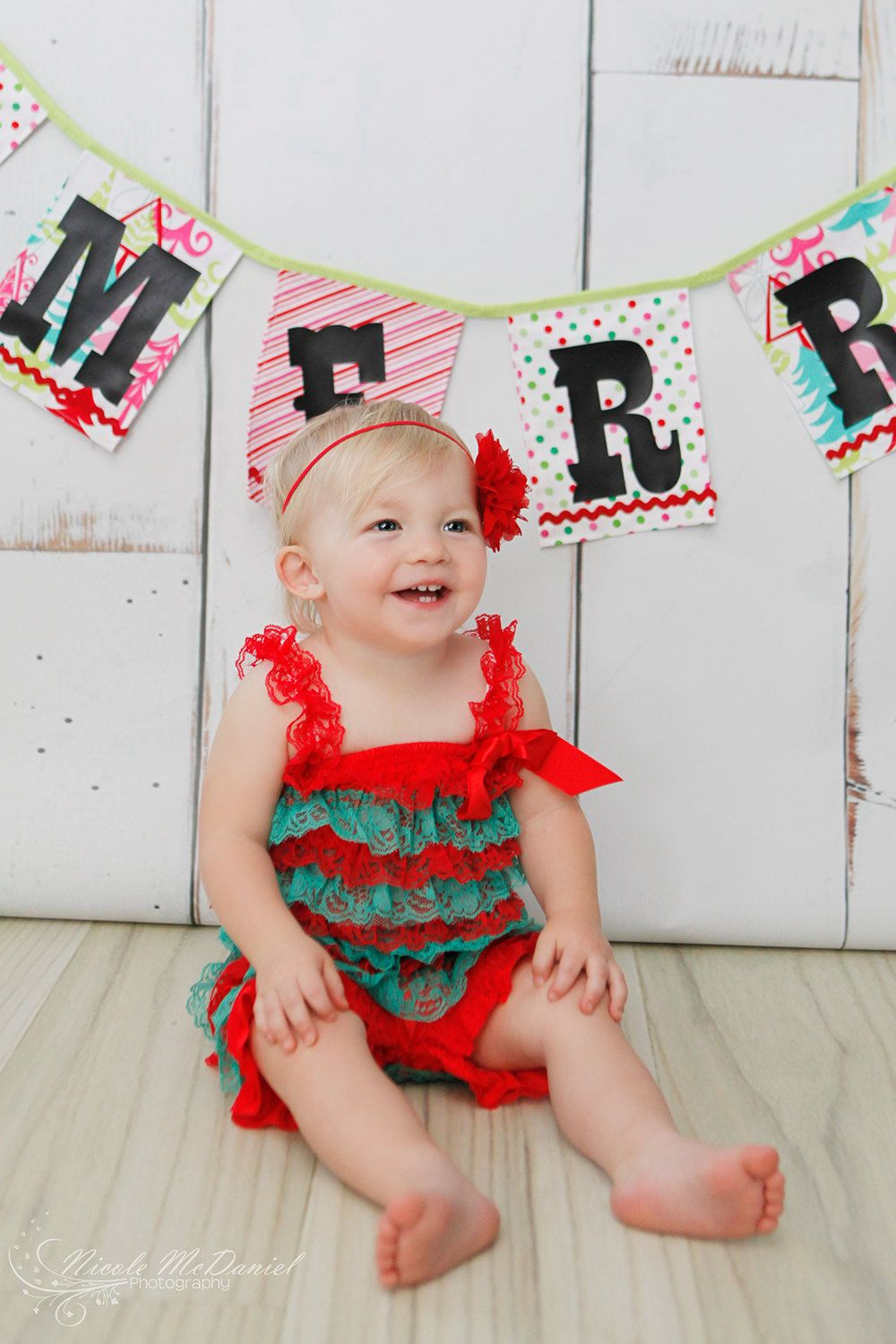 Lace Romper - Christmas Romper - Babies First Christmas - Christmas Dress - Christmas Outfit -. $22.00, via Etsy.