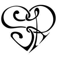 Tatuaggio di Cuorigramma S+R, Unione, amore tattoo - custom tattoo designs on TattooTribes.com