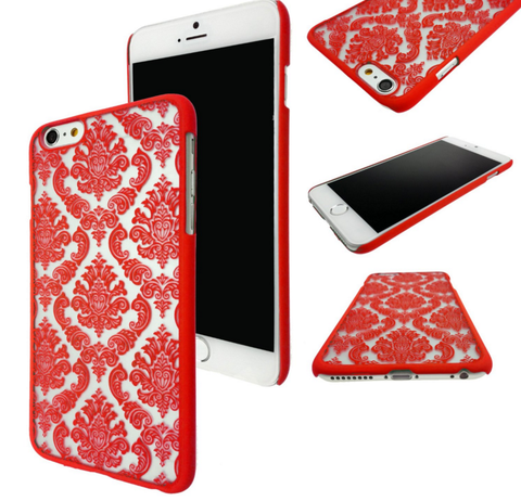 iPhone 6 Plus, 6, 5/5S, 5C - Antique Damask Design Case in Assorted Colors