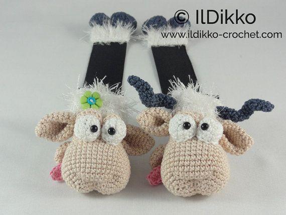 Amigurumi Crochet Pattern - Baarney and Baarn the Sheep Bookmark ...