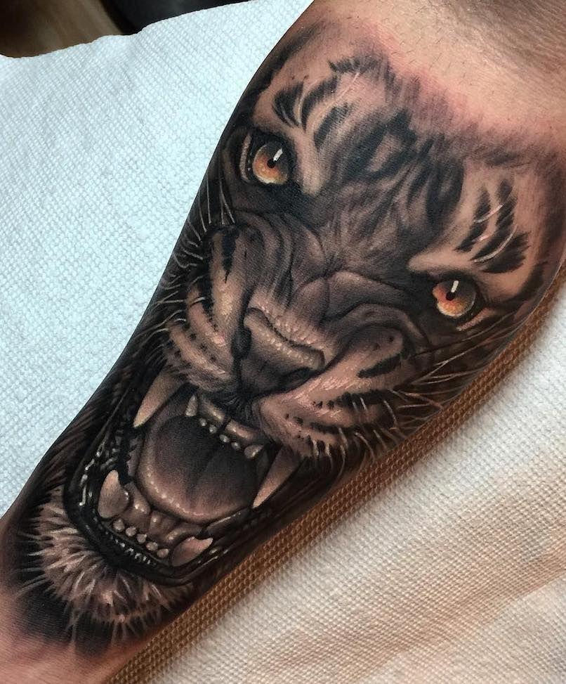 Alejandro Mazakre Tiger Tattoo Tattoos For Me Tatouage Tatouage