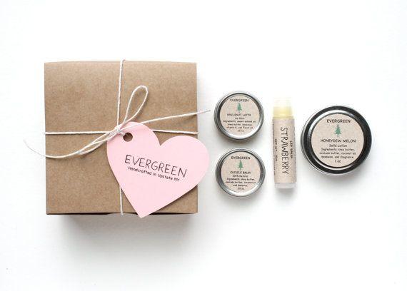evergreen lip balm gift set