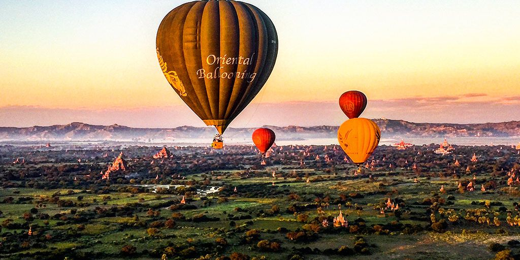 hot air ballooning over bagan Bagan, Balloon rides