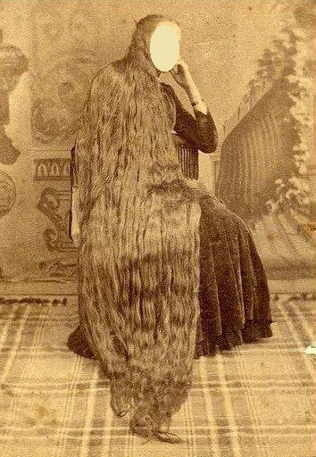 Cheveux longs vielle photos