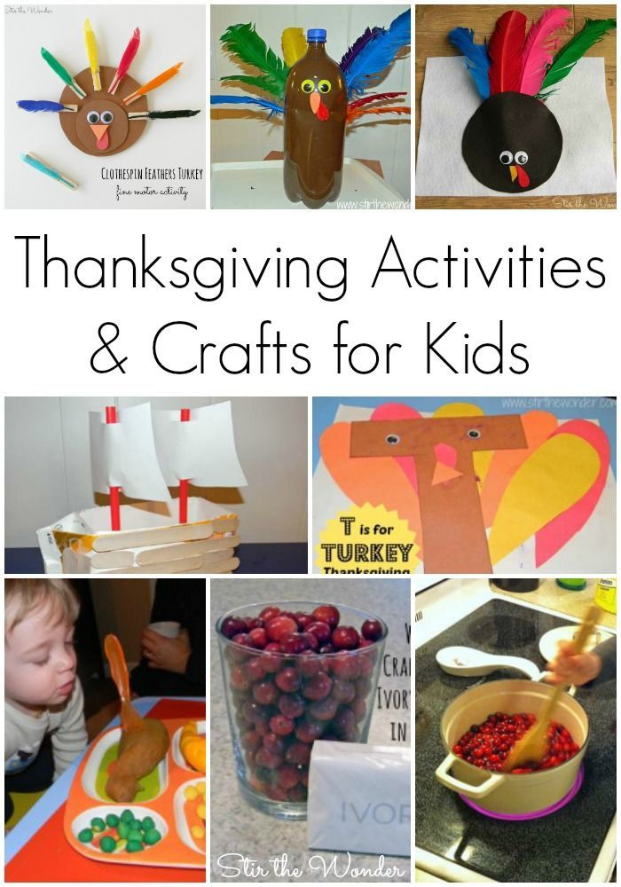 Thanksgiving Activities & Crafts for Kids - Stir The Wonder