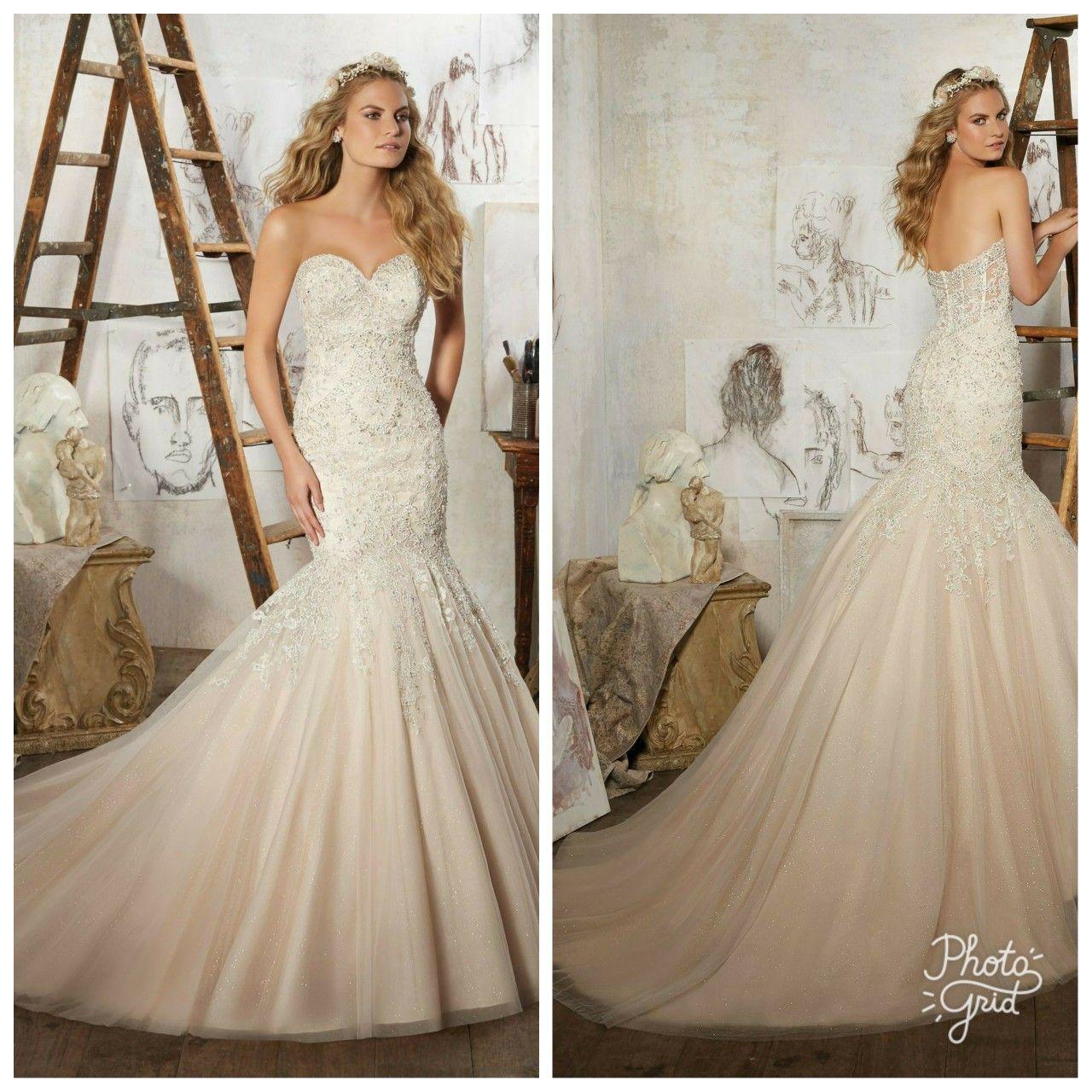 Mermaid wedding dress, sparkle wedding dress, beaded