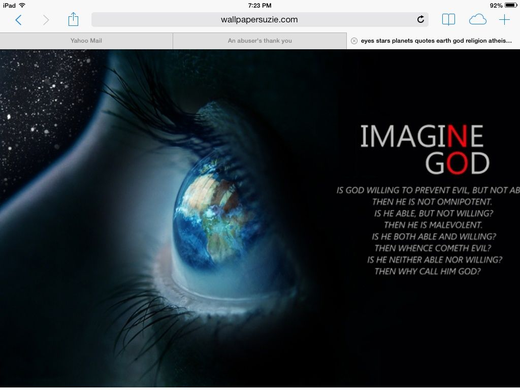 Imagine no god