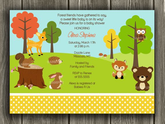 woodland baby shower invitation free thank by dazzleexpressions, Baby shower invitations