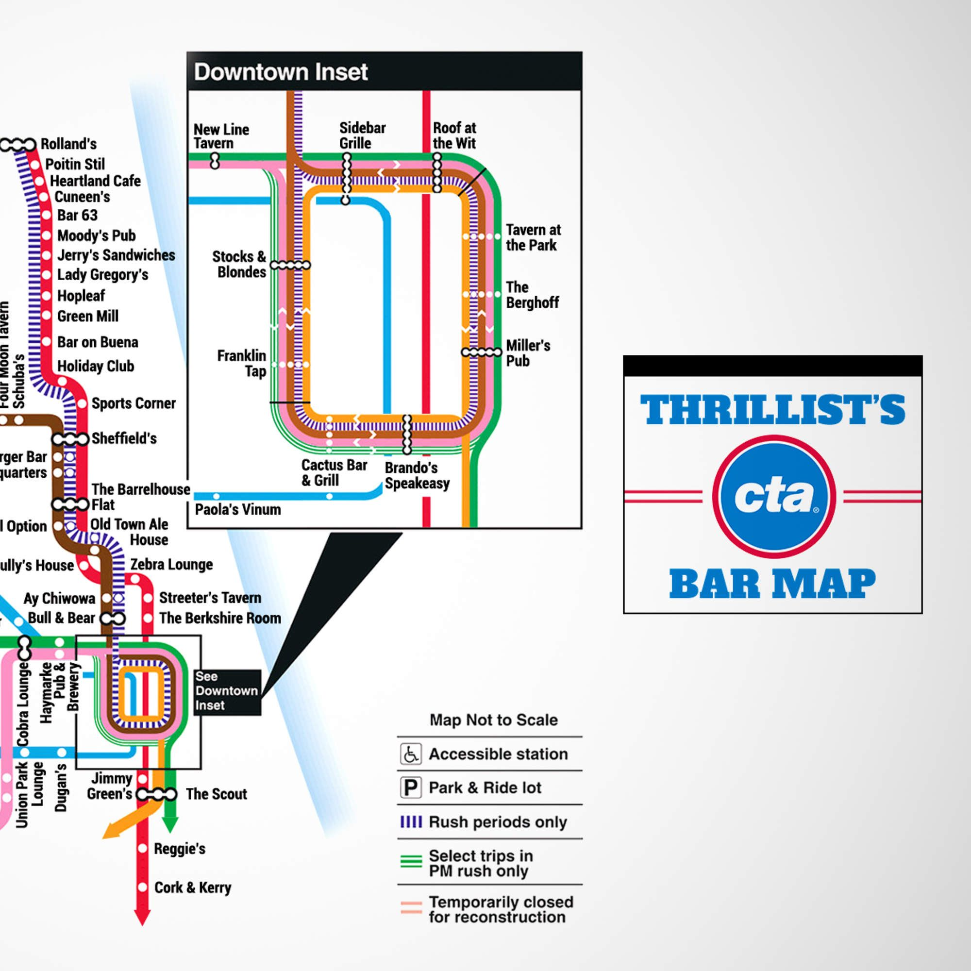 The Official Chicago L Bar Map App The Ojays And Bar - Chicago map app