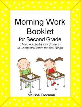 Morning Work for Grade 2 | School Stuff | Morning work, Bell ...