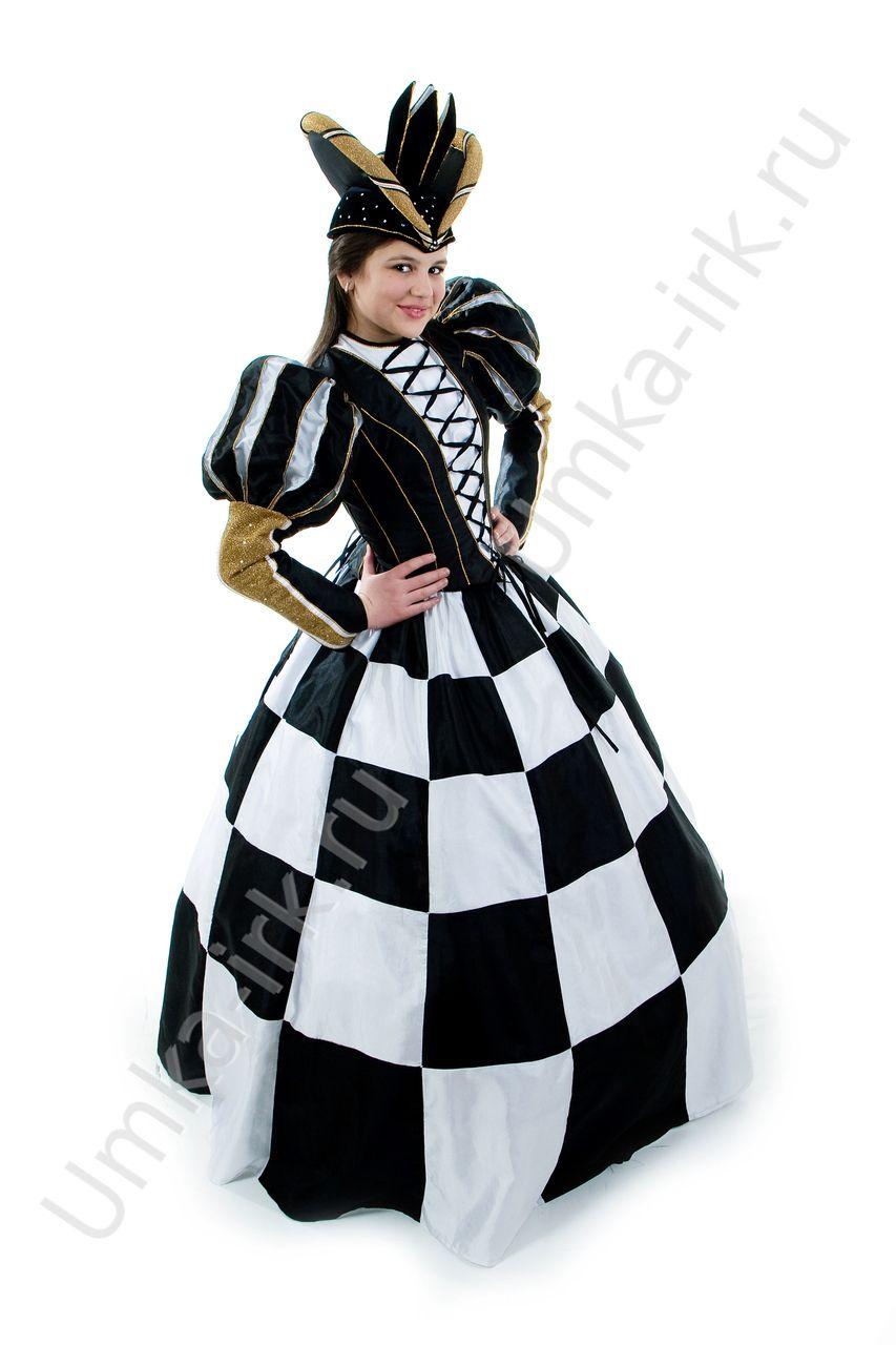 38Костюм шахматной королевы для девочки