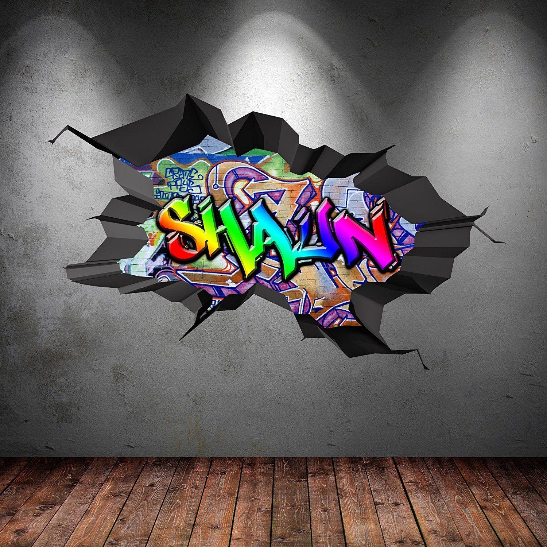 Personalisiertes Graffiti Wandtattoo Perfekt Fur Das Skater Kinderzimmer Graffiti Tapete Graffiti Namen Graffiti Zimmer