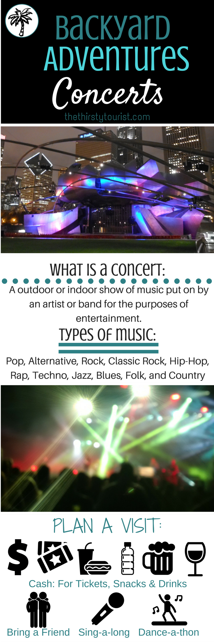 want to know about the backyard adventure of attending a concert