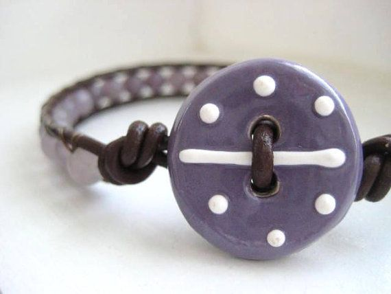 'Purple Passion - Leather Single Wrap Bracelet' is going up for auction at  4pm Tue, Jun 26 with a starting bid of $5.