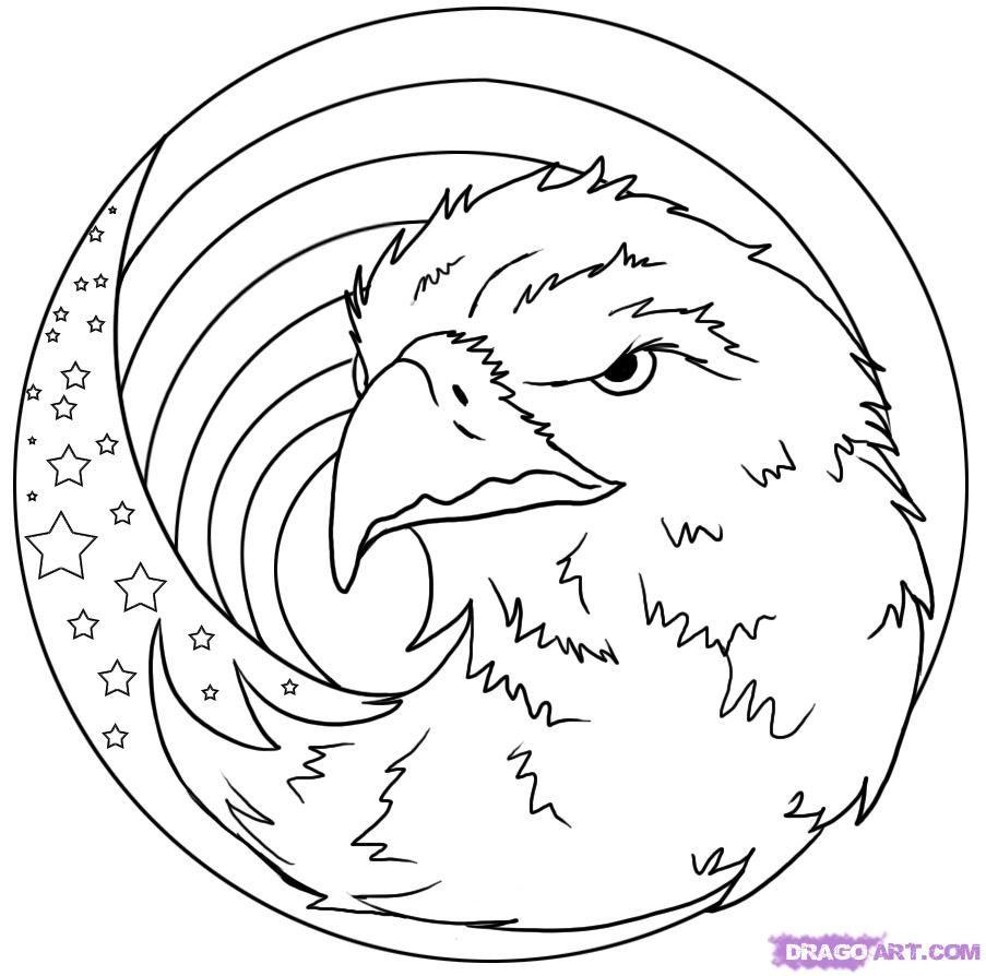 Eagle Flag Adelaar Kleurplaten Vogels