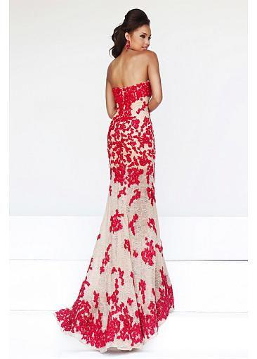 Precioso encaje de novia de escote palabra de longitud vestido de ...