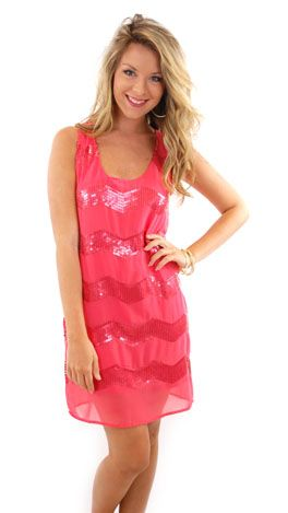 Party On Dress, Coral