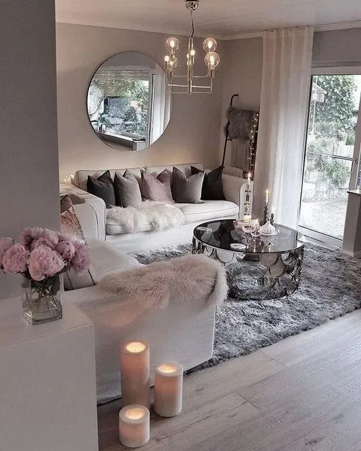 Pin By Chaij Hodge On Apartment Living Room Decor Cozy Glam
