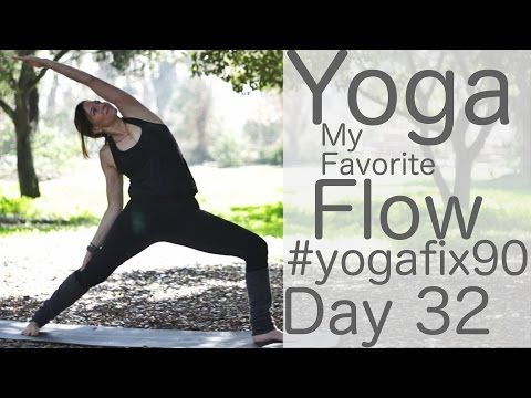 30 mins - Yoga Flow Day 32 Yoga Fix 90 with Lesley Fightmaster - YouTube