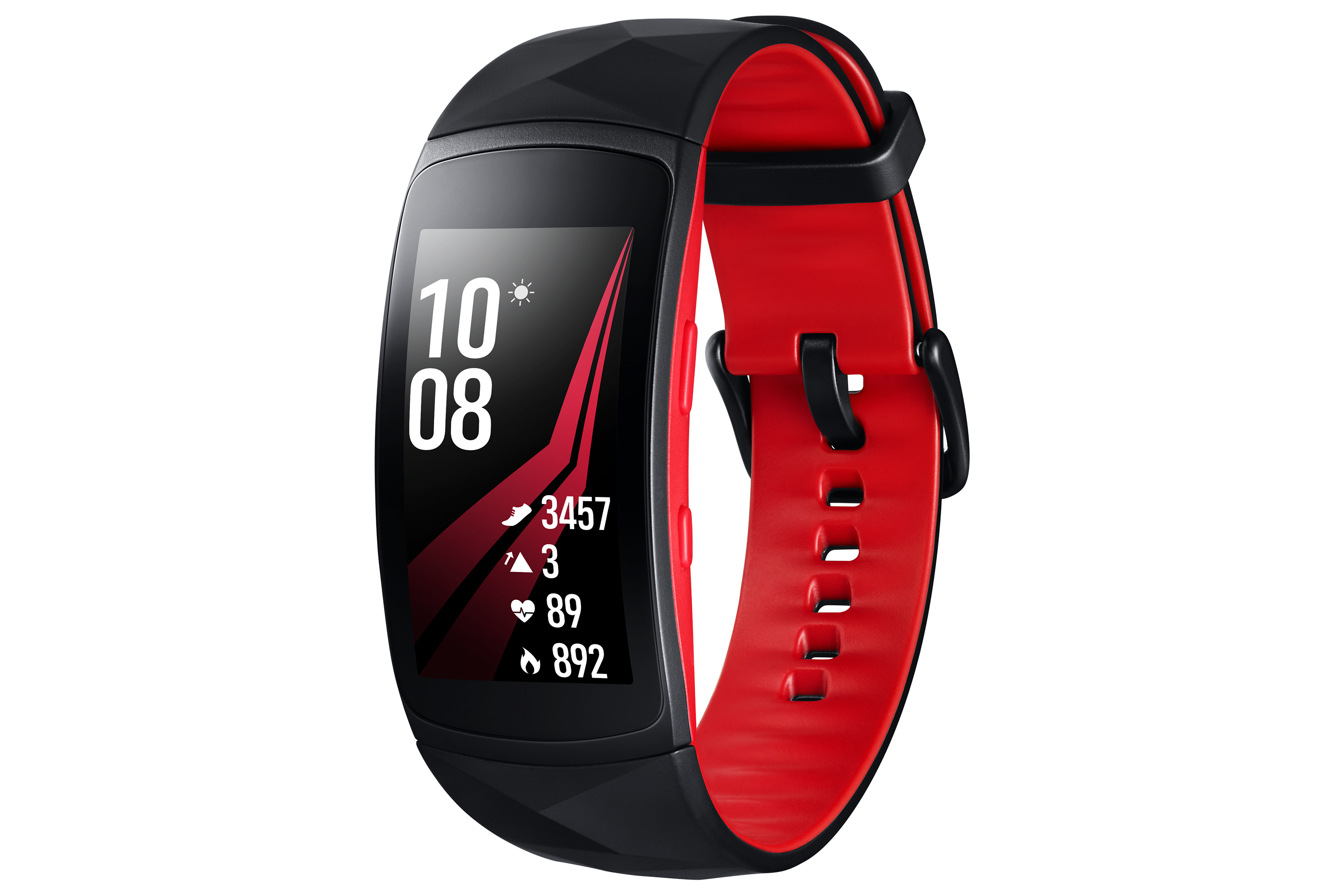 Samsung Black And Red Water Resistant 4gb Gear Fit2 Pro With Large Strap Sm R365nzrabtu Samsung Gear Fit Samsung Gear Fit 2 Gear Fit2